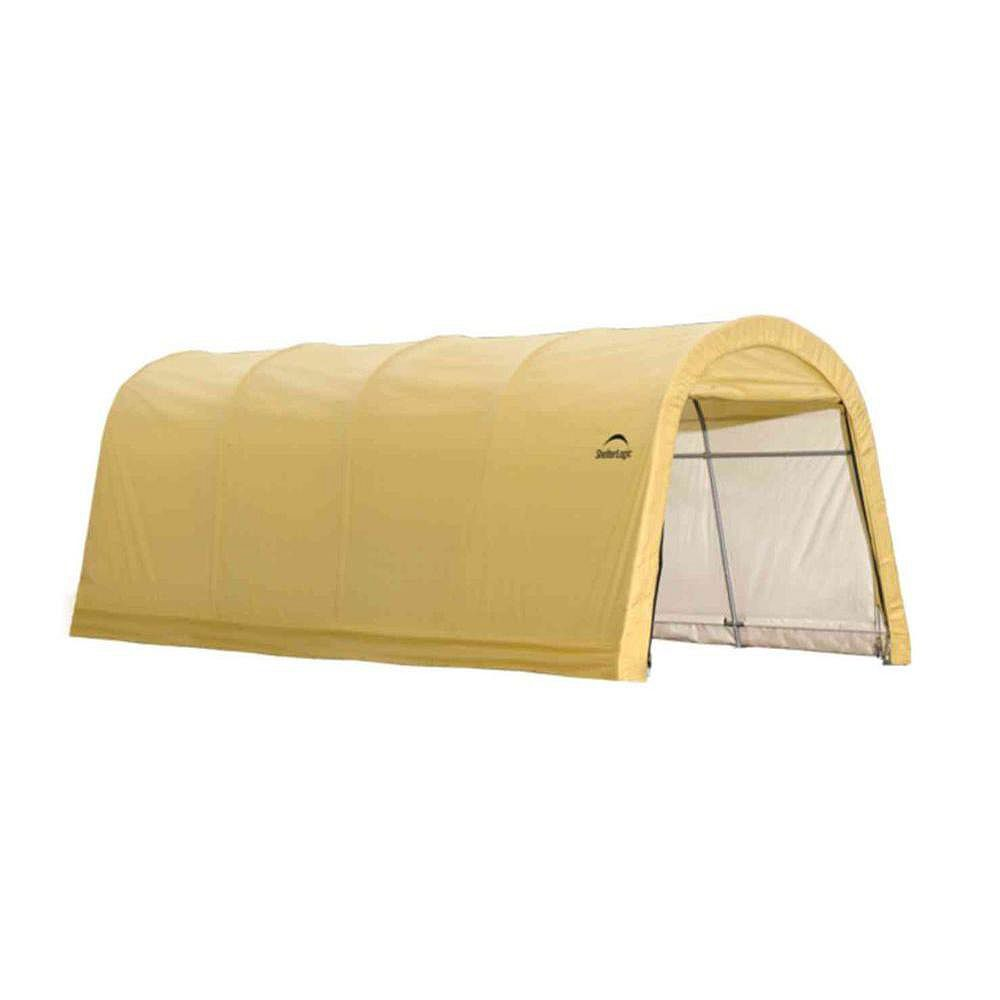ShelterLogic 10 ft. x 20 ft. x 8 ft. Compact Auto Shelter Instant Garage in Sandstone