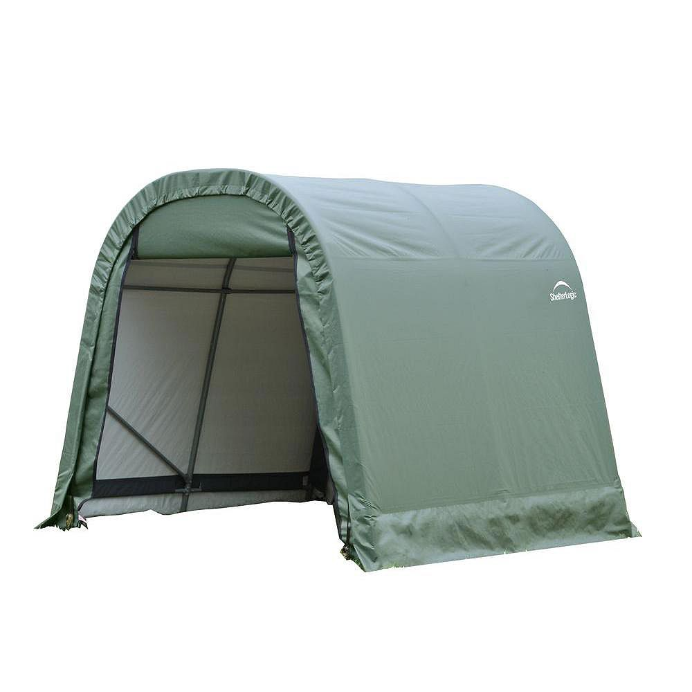 ShelterLogic ShelterCoat 10 x 8 ft. Wind and Snow Rated Garage Round Green STD