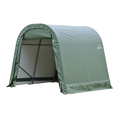 ShelterCoat 8 x 12 ft. Wind and Snow Rated Garage Round Green STD