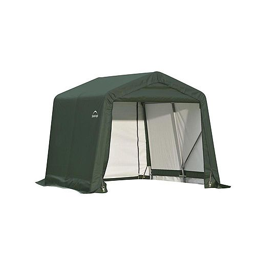 8 ft. x 16 ft. x 8 ft. Peak Style Storage Shelter in Green