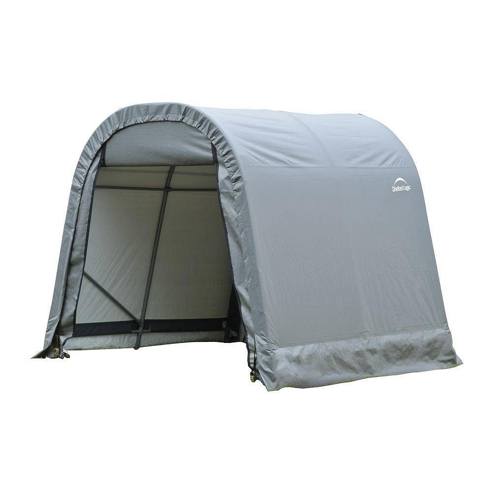 ShelterLogic Grey Cover Round Style Shelter - 9 Feet x 8 Feet x 10 Feet
