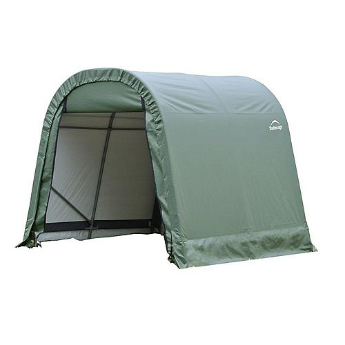 ShelterCoat 8 x 16 ft. Wind and Snow Rated Garage Round Green STD