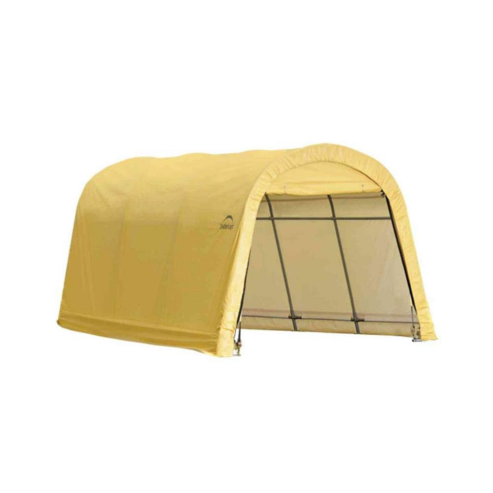 ShelterLogic 10 ft. x 15 ft. x 8 ft. Compact Auto Shelter Instant Garage in Sandstone