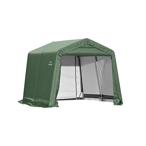 10 ft. x 8 ft. x 8 ft. Peak Style Shed Storage Shelter in Green