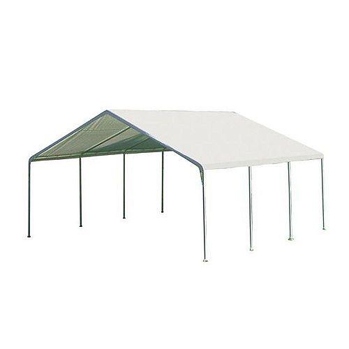 Super Max 18 ft. x 20 ft. White Premium Canopy