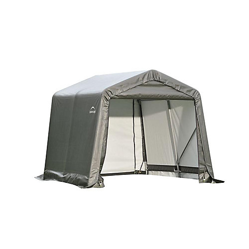 8 ft. x 12 ft. x 8 ft. Peak Style Shelter with Grey Cover