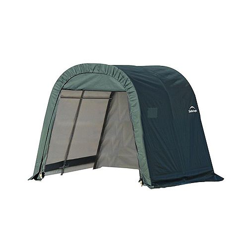 ShelterCoat 8 x 8 ft. Wind and Snow Rated Garage Round Green STD
