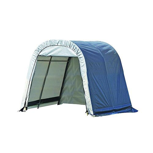 ShelterCoat 10 x 12 ft. Wind and Snow Rated Garage Round Gray STD