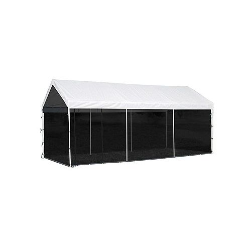 Max AP 10 ft. x 20 ft. 2-in-1 Canopy in White with Screen House Enclosure Kit