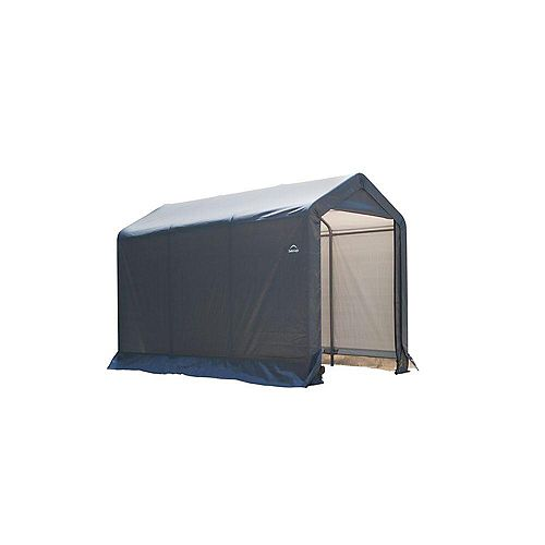 Shed-in-a-Box 6 ft. x 10 ft. x 6 ft. Peak Style Storage Shed in Grey
