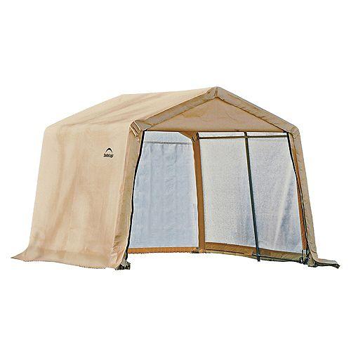 10 x 10 x 8 Feet Storage Shed, Peak Style - Sandstone Cover