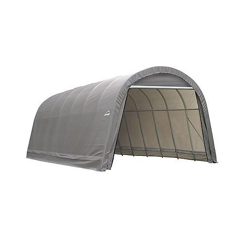 ShelterCoat 15 x 28 ft. Wind and Snow Rated Garage Round Gray STD