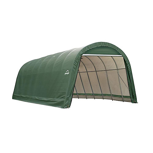 ShelterCoat 15 x 28 ft. Wind and Snow Rated Garage Round Green STD