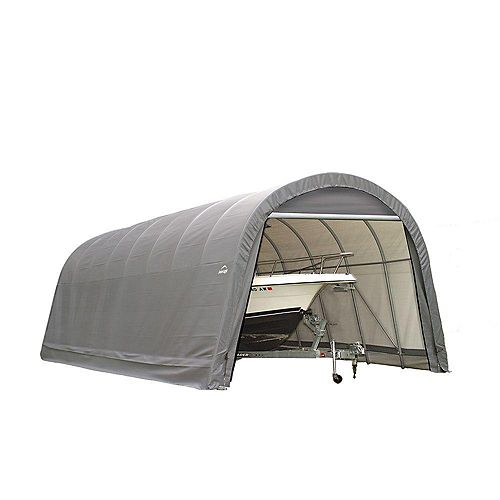 ShelterCoat 15 x 20 ft. Wind and Snow Rated Garage Round Gray STD