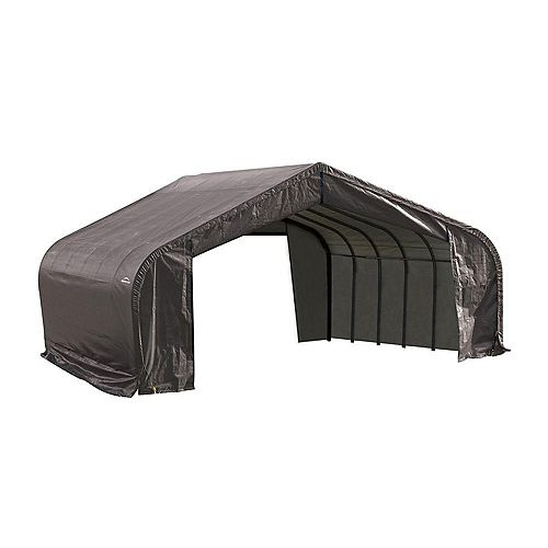 22 ft. x 20 ft. x 13 ft. Peak Style Shelter with Grey Cover