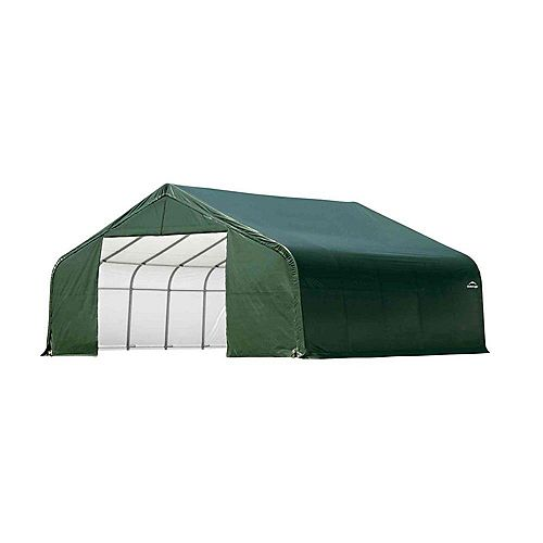 Green Cover Peak Style Shelter - 26 Feet x 20 Feet x 12 Feet