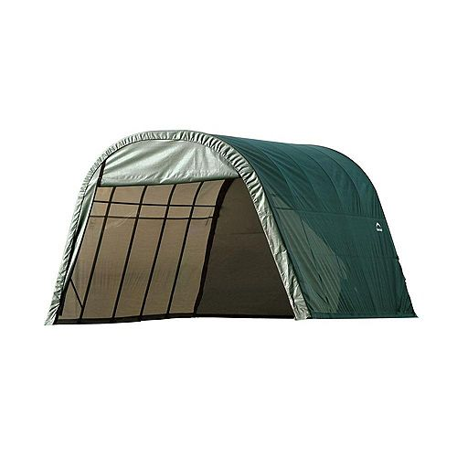 ShelterCoat 13 x 28 ft. Wind and Snow Rated Garage Round Green STD