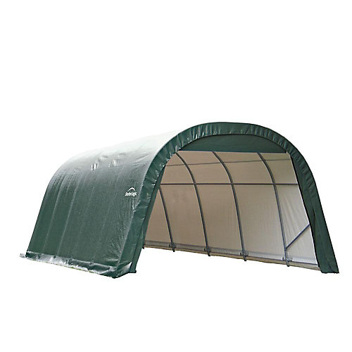 ShelterCoat 12 x 24 ft. Wind and Snow Rated Garage Round Green STD