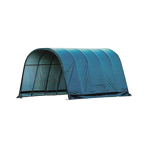 12 ft. x 20 ft. x 10 ft. Round Style Run-In Shelter with Green Cover