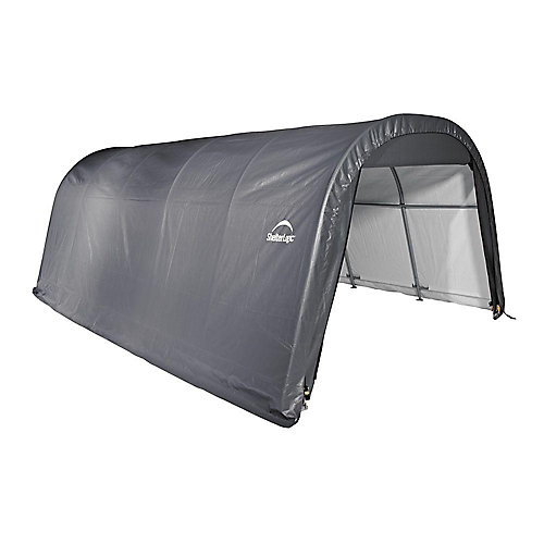ShelterCoat 12 x 20 ft. Wind and Snow Rated Garage Round Gray STD