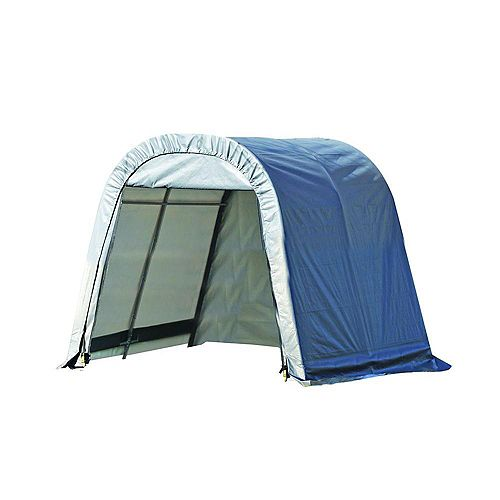 ShelterCoat 11 x 8 ft. Wind and Snow Rated Garage Round Gray STD