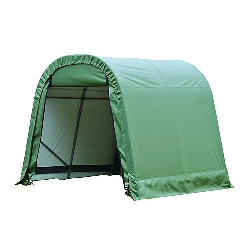 ShelterCoat 11 x 8 ft. Wind and Snow Rated Garage Round Green STD