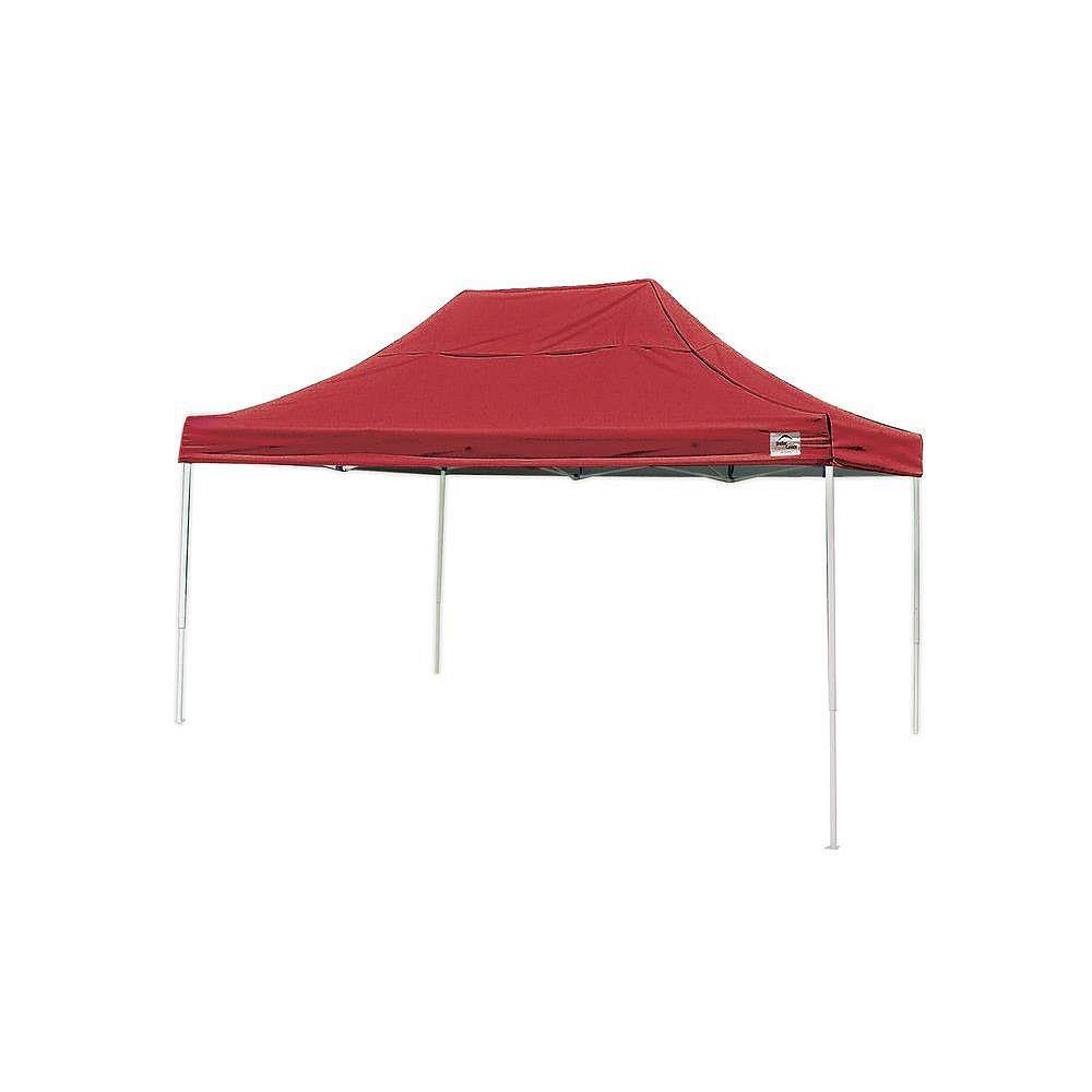 ShelterLogic Pop-Up Canopy HD - Straight Leg 10 x 15 ft. Red