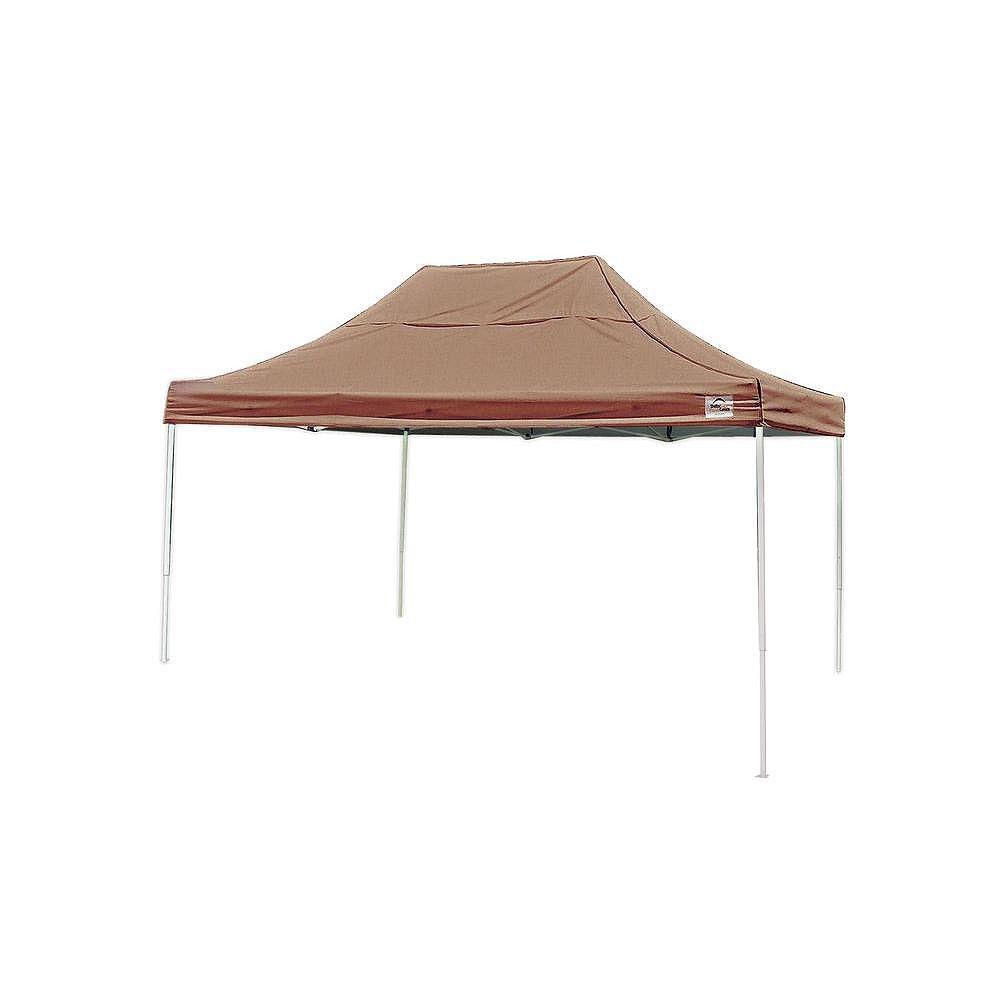 ShelterLogic Pro 10 ft. x 15 ft. Desert Bronze Straight Leg Pop-Up Canopy