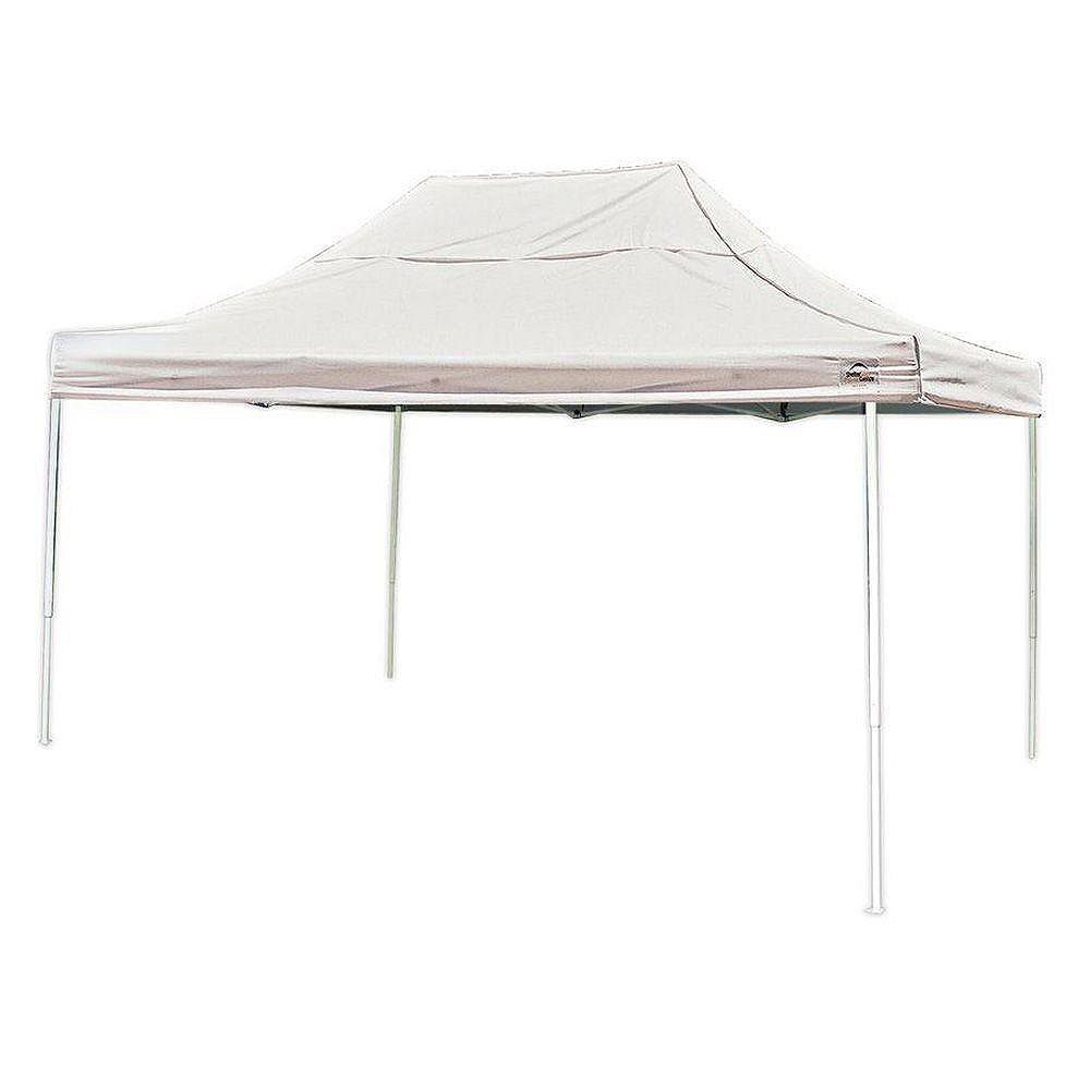 ShelterLogic 10 ft. x 15 ft. Pro Pop-Up Canopy with Straight Legs & White Cover