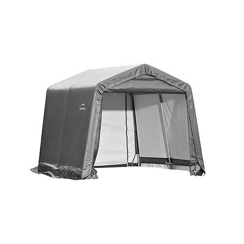 10 ft. x 16 ft. x 8 ft. Peak Style Shelter with Grey Cover