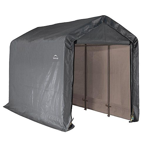 Shed-in-a-Box 6 ft. x 12 ft. x 8 ft. Peak Style Storage Shed in Grey