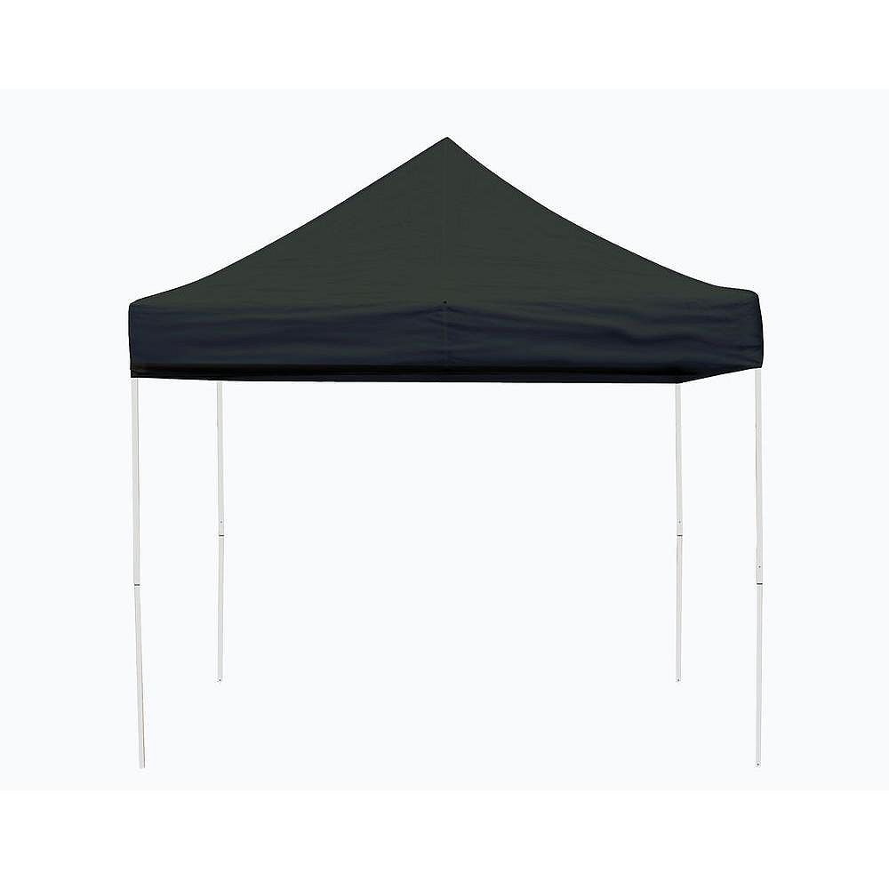 ShelterLogic Pro 10 ft. x 10 ft. Black Straight Leg Pop-Up Canopy