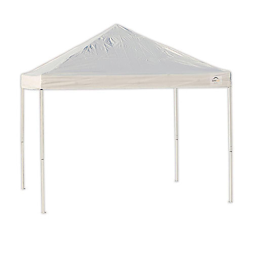 Pro 10 ft. x 10 ft. White Straight Leg Pop-Up Canopy