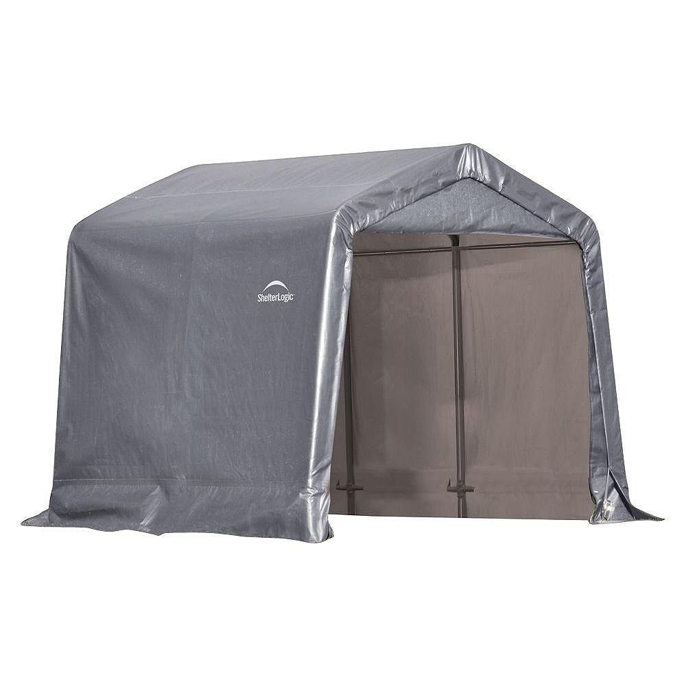 Shelterlogic Shed In A Box 8 Ft X 8 Ft X 8 Ft Peak Style Grey Storage Shed The Home Depot Canada