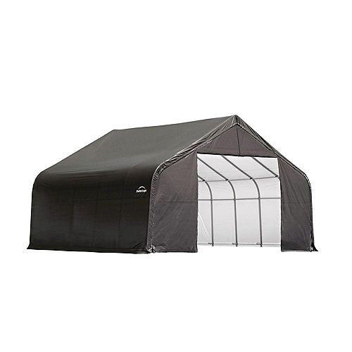 Grey Cover Peak Style Shelter - 26 Feet x 24 Feet x 16 Feet