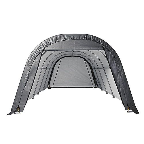 ShelterCoat 13 x 24 ft. Wind and Snow Rated Garage Round Gray STD