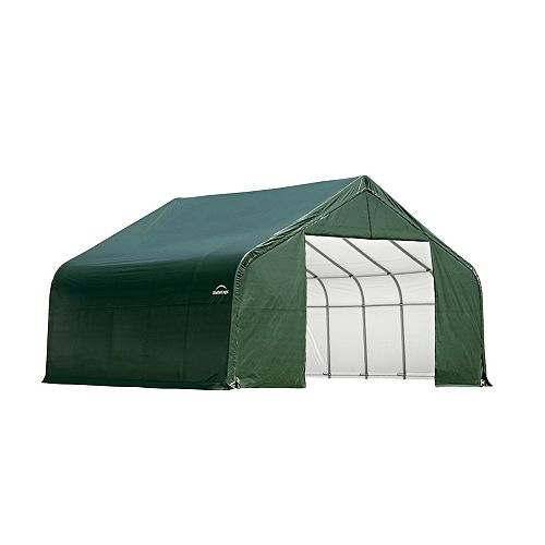 Green Cover Peak Style Shelter - 26 Feet x 20 Feet x 16 Feet