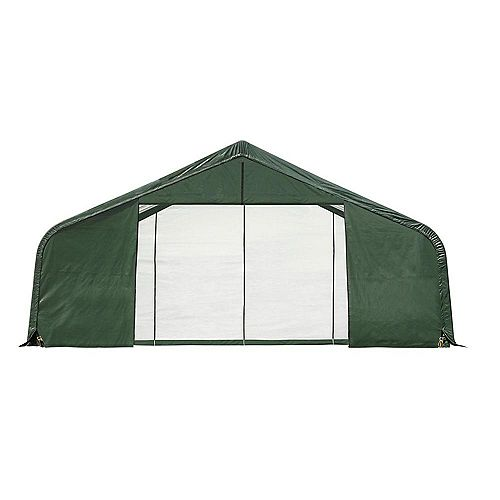 ShelterCoat 28 x 20 ft. Garage Peak Green STD