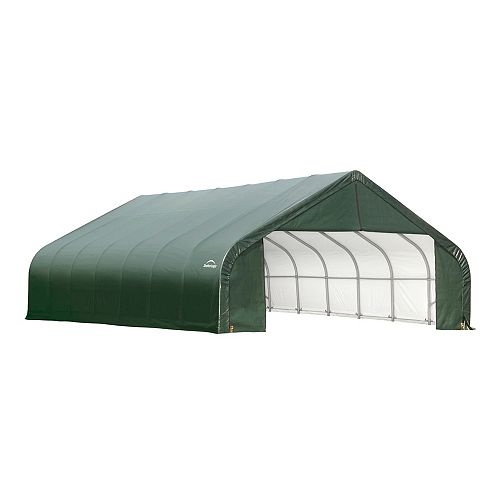 Green Cover Peak Style Shelter - 26 Feet x 28 Feet x 16 Feet