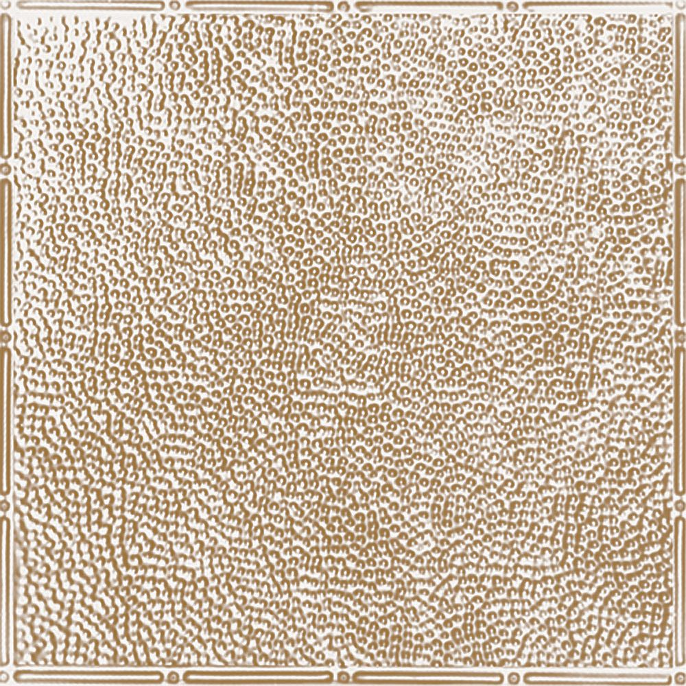 Shanko 2 Feet x 4 Feet Brass Plated Steel Finish   Nail-Up Ceiling Tile Design Repeat Every 24 Inches