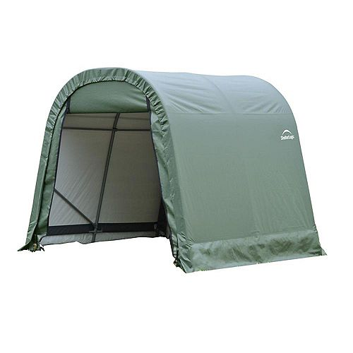 ShelterCoat 11 x 12 ft. Wind and Snow Rated Garage Round Green STD