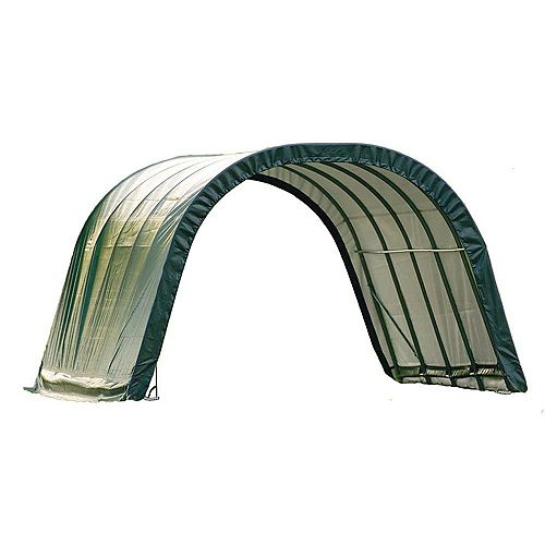 Equine 12 ft. x 20 ft. x 8 ft. Run-In Round-Style Shed