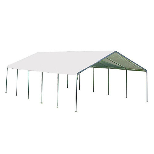 Super Max 18 ft. x 30 ft. White Premium Canopy