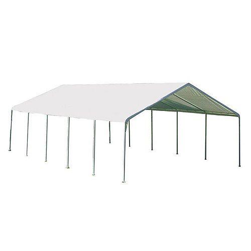 Super Max 18 ft. x 30 ft. White Premium Canopy