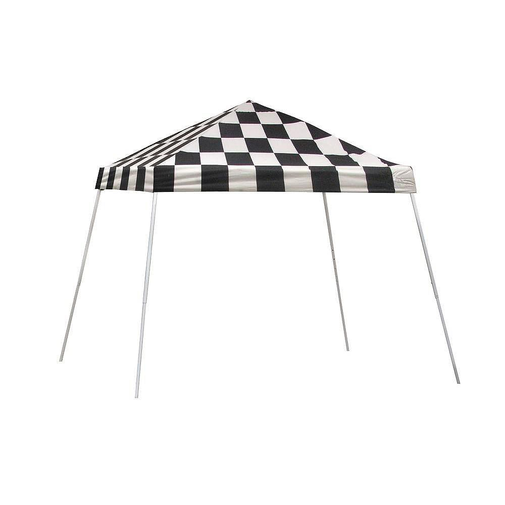 ShelterLogic Sport 10 ft. x 10 ft. Pop-Up Canopy Slant Leg, Checkered Flag Cover with Storage Bag