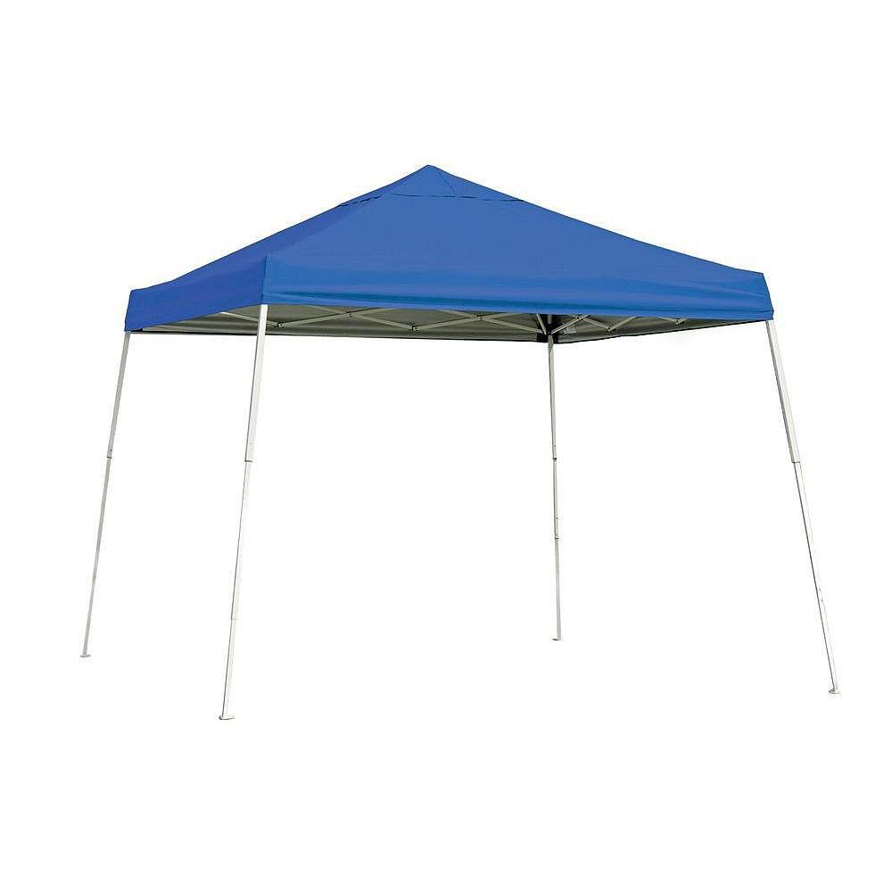 ShelterLogic Sport 10 ft. x 10 ft. Pop-Up Canopy Slant Leg, Blue Cover with Storage Bag