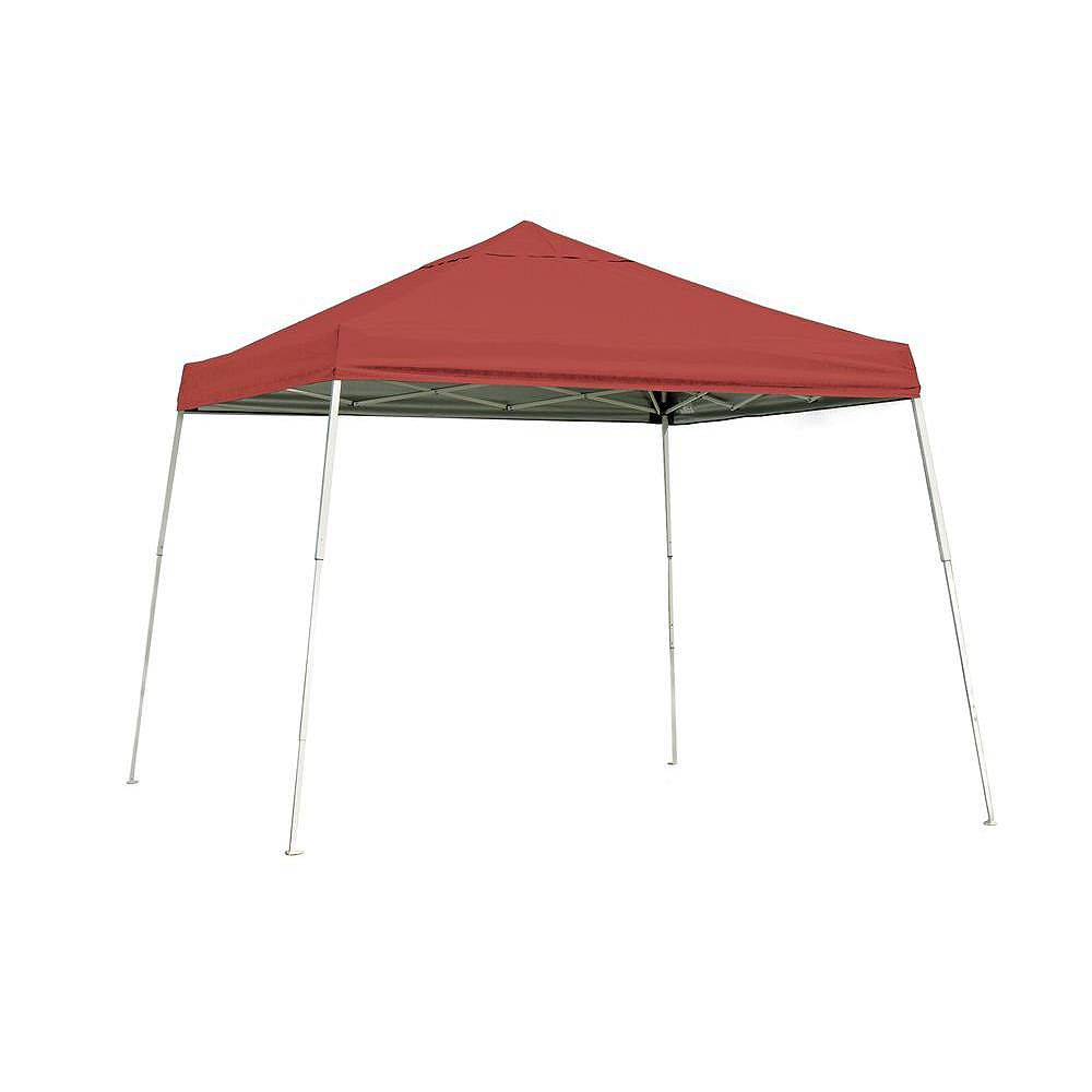 ShelterLogic Sport 10 ft. x 10 ft. Pop-Up Canopy Slant Leg, Red Cover with Storage Bag