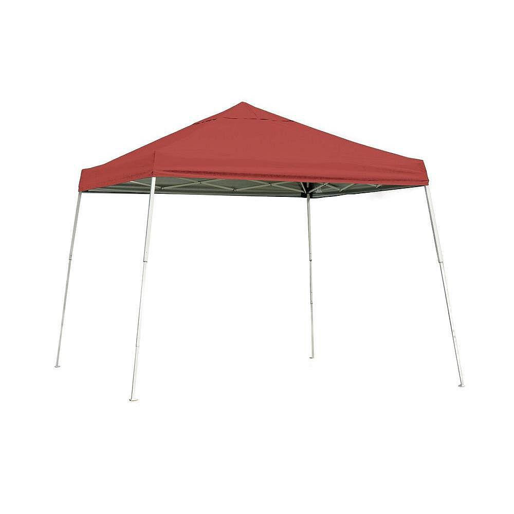 ShelterLogic Auvent escamotable à montants inclinés, série Sport, rouge, 12 x 12 pi
