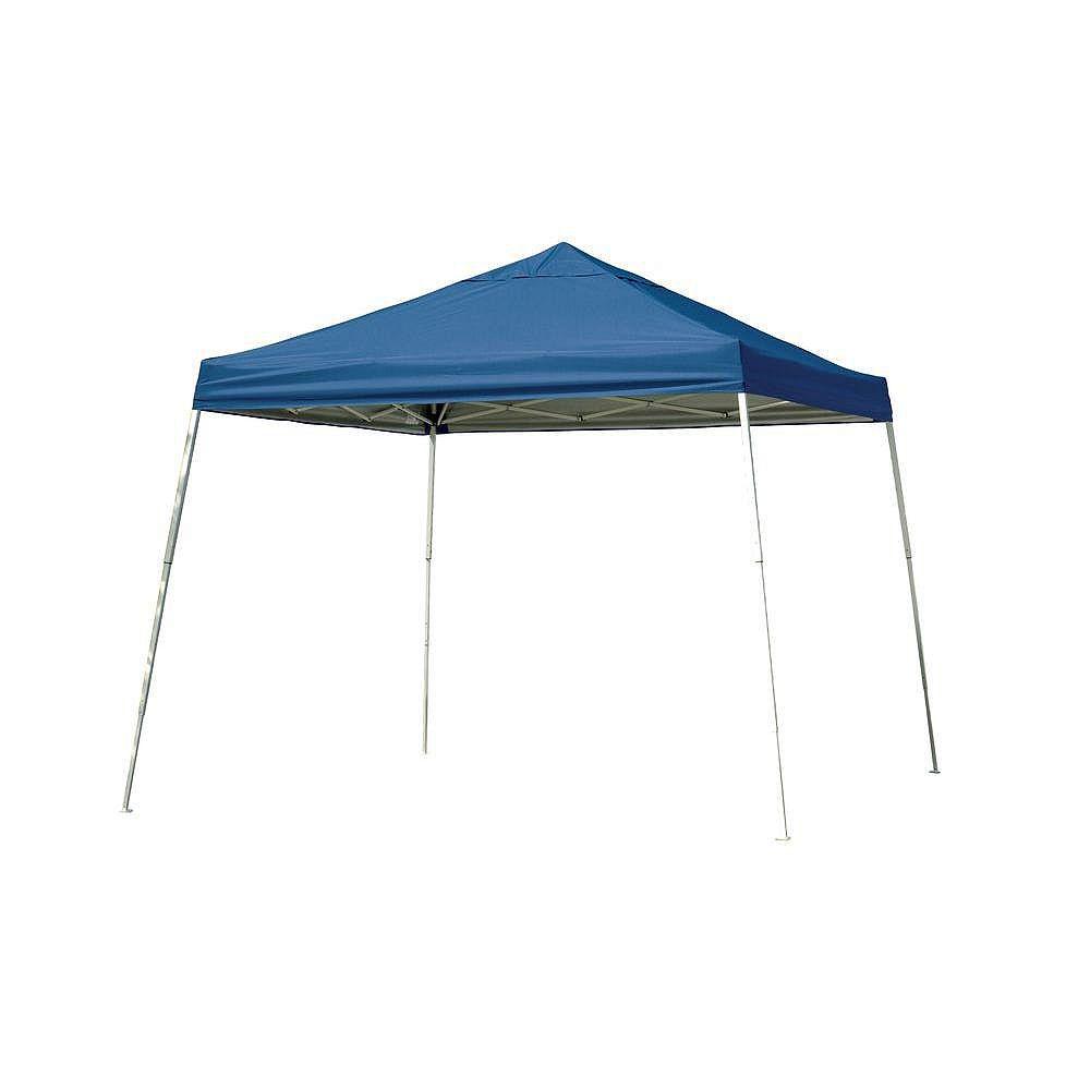 ShelterLogic Sport 12 ft. x 12 ft. Pop-Up Canopy Slant Leg, Blue Cover with Storage Bag