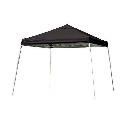 Sport 12 ft. x 12 ft. Pop-Up Canopy Slant Leg, Black Cover with Storage Bag